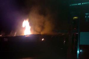 Пожар на улице Калинина.