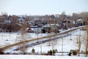 Вид на Малоархангельск зимой со стороны Беленького.