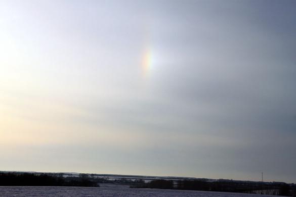 Зимняя радуга над Малоархангельском.