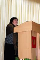 Выступает председатель районного Совета ветеранов войны, труда, Вооруженных Сил и правоохранительных органов Тюрина Людмила Матвеевна.