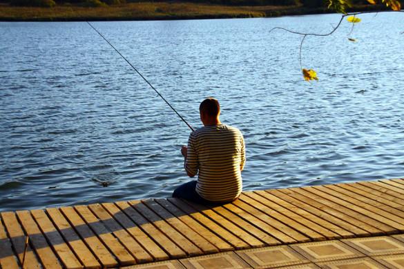 Рыбалка на пруду Прогресс.