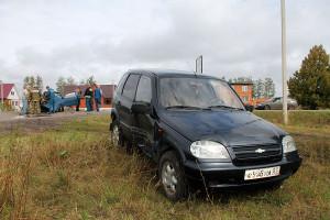 Столкновение автомобилей Ока и Нива Шевроле в Малоархангельске.