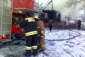 Пожар в Упалом.