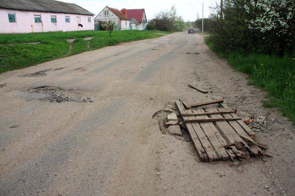 Дорожное покрытие на переулке Адлера.