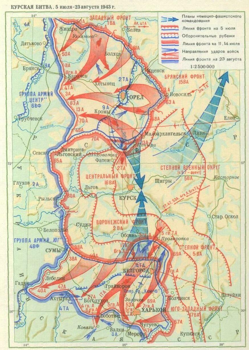 Курская битва на карте картинки