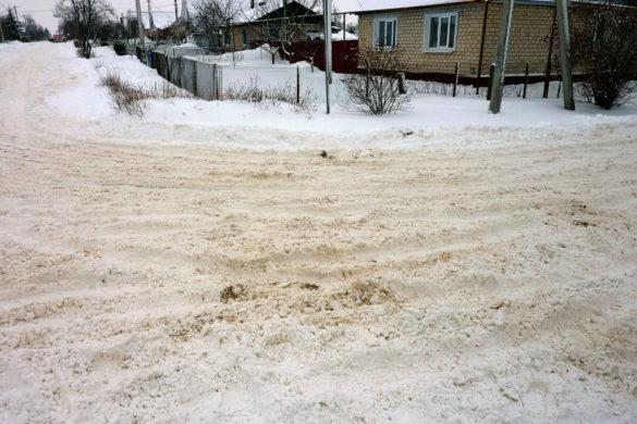 Каша из снега рядом со школой №1.