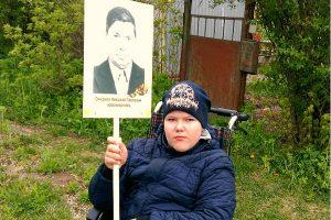 Туляк Смирнов Николай с портретом деда.
