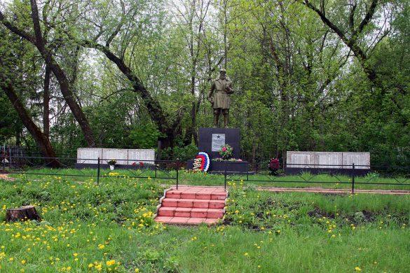 Фото захоронения в деревне Удерево Малоархангельского района