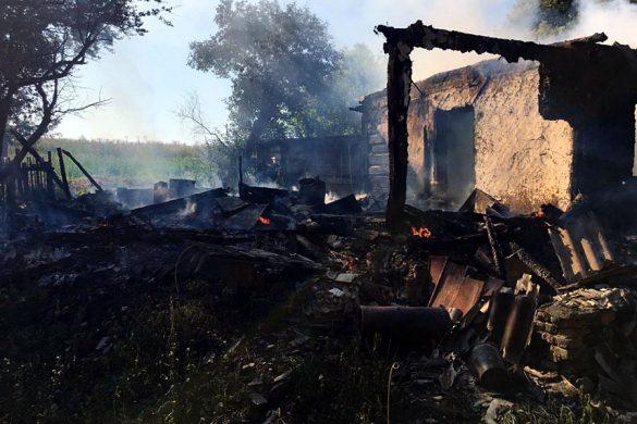 После пожара в Аладьеве
