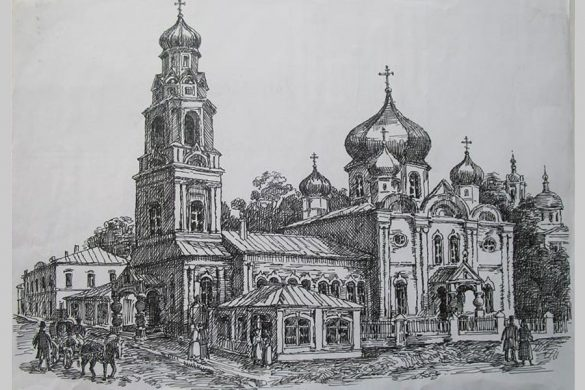Воскресенская церковь города Малоархангельска