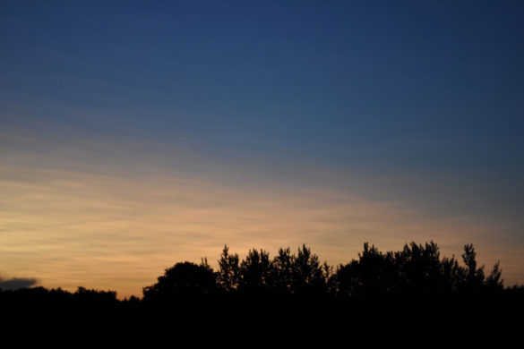 Закат в Белозёровке.