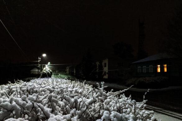 Снег в апреле в Малоархангельске.