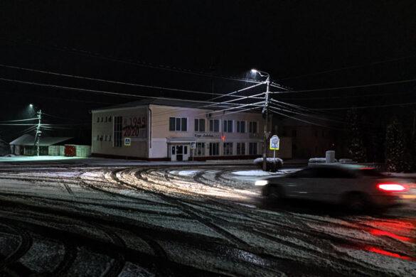 Снег в апреле в Малоархангельске. Ресторан Ливадия.