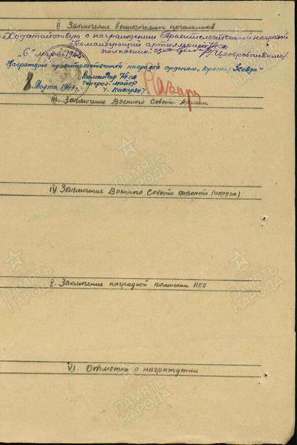 За эти боевые успехи младший лейтенант Сонин 8 марта 1943 года был награждён орденом Красной Звезды.