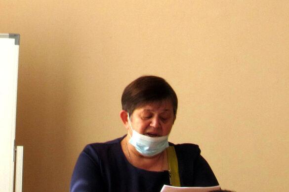Председатель территориальной избирательной комиссии Малоархангельского района Е.Н.Ревякина.
